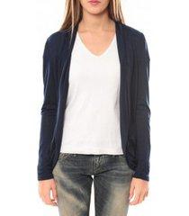 vest vero moda living l/s cardigan 10102085 bleu