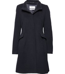 coat wool wollen jas lange jas blauw gerry weber edition