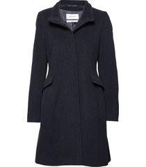 coat wool wollen jas lange jas blauw gerry weber edition