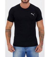 camiseta puma evostripe preta masculina
