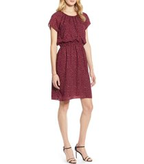 women's halogen blouson dress, size xx-large - burgundy