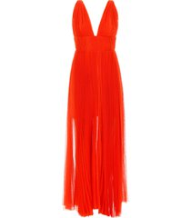 maria lucia hohan long pleated dress