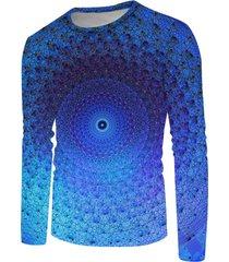 bohemian 3d print long sleeve t-shirt