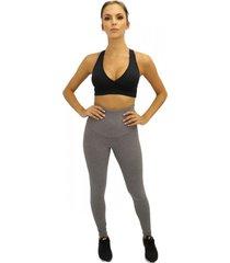 legging question sport cintura alta mescla