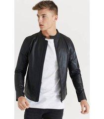 skinnjacka racer leather jacket
