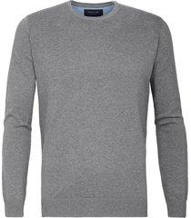 pullover profuomo grijs ronde hals