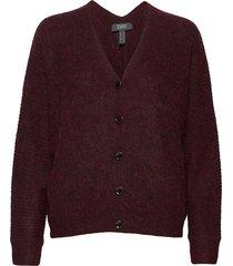 sweaters cardigan stickad tröja cardigan röd esprit collection