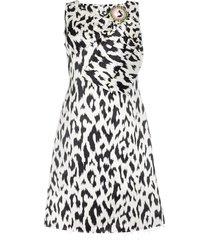 calvin klein 205w39nyc cheetah print brooch embellished sleeveless