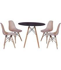 conjunto mesa de jantar impã©rio brazil eiffel - incolor/ - dafiti