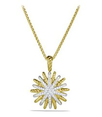 david yurman starburst small pendant with diamonds in gold on chain, size 17 in at nordstrom