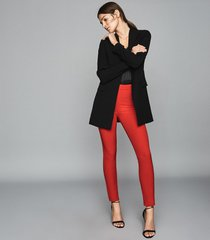 reiss tyne - skinny trousers in bright red, womens, size 10
