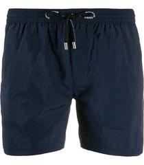 balmain embroidered logo swim shorts - blue
