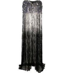 jenny packham agathe sequin-embellished cape - black