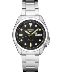 seiko men's automatic 5 sports stainless steel bracelet watch 40mm