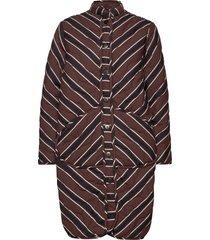 ava jacket autumn stripe doorgestikte jas bruin moshi moshi mind