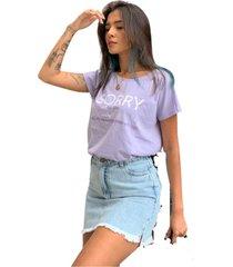 blusa in love t-shirt inconveniãªncia lilas - lilã¡s - feminino - algodã£o - dafiti