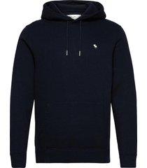 anf mens sweatshirts hoodie trui blauw abercrombie & fitch