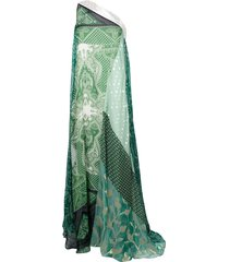 etro patchwork maxi dress - green