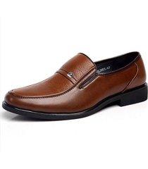 uomo scarpe basse formali in pelle di stile britannico business casual
