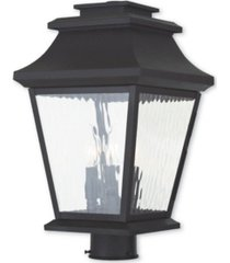 closeout! livex hathaway 3-light outdoor post lantern