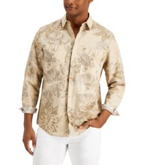 inc international concepts men's tropical floral print shirt, created for macy's