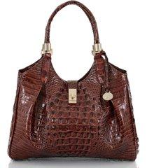brahmin celia melbourne embossed leather satchel