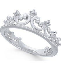 diamond tiara ring (1/20 ct. t.w.) in 14k white gold