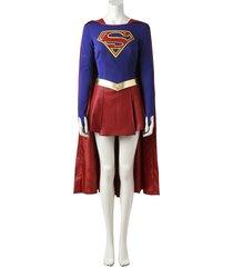 supergirl kara zor-el danvers cosplay costume super women superhero outfit