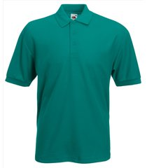 fruit of the loom heren poloshirt emerald pique regular fit groen