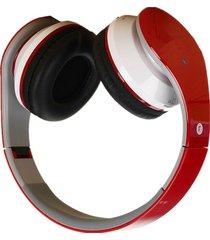 audifonos, auriculares bluetooth on ear driver auriculares-rojo