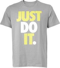 camiseta nike sportswear nsw jdi hbr cinza - kanui