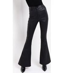 akira on duty vegan leather high rise flare pants