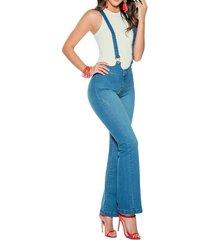 overall largo  marketing personal  para mujer -azul
