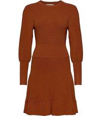 peplum dress jurk knielengte oranje maud