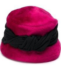 a.n.g.e.l.o. vintage cult 1950's twisted detail plush bucket hat -