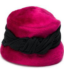 a.n.g.e.l.o. vintage cult 1950's twisted detail plush bucket hat -