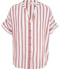 camicia a maniche corte in fantasia  a righe (rosso) - john baner jeanswear