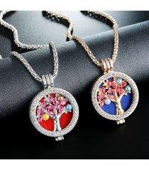 collana di pietre preziose con strass alla moda collana con olio essenziale per le donne