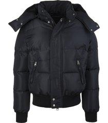 alexander mcqueen man black mcqueen graffiti puffer jacket