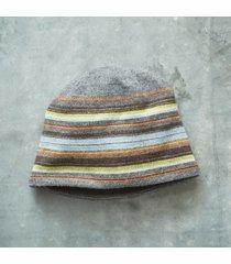 slate striped beanie