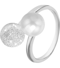 anello in argento 925 e perle per donna