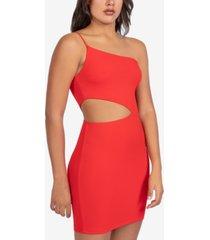 b darlin juniors' one-shoulder cutout dress