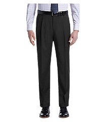 traveler collection traditional fit pleated washable wool pants by jos. a. bank