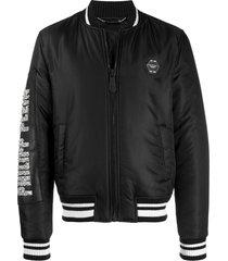 philipp plein cowboy bomber jacket - black