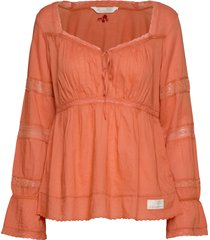 still my love blouse blouse lange mouwen oranje odd molly