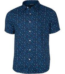 cutter & buck men's windward daub print short sleeve shirt