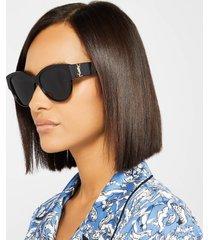 saint laurent women's oversized round frame sunglasses - black