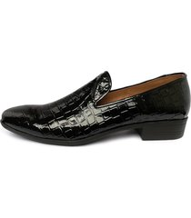 zapatos loafer charol para hombre alligator outfit negro