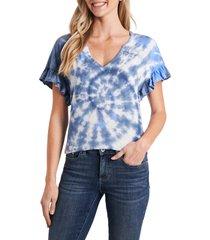 women's cece tie dye t-shirt, size medium - blue