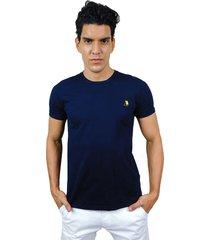 camiseta hombre básica azul marino